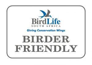 Birder Friendly establishment - Birdlife