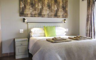 Lodge interior - double bedroom