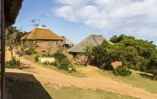 The view of the other lodges at Pomeroy from Nyala Lodge